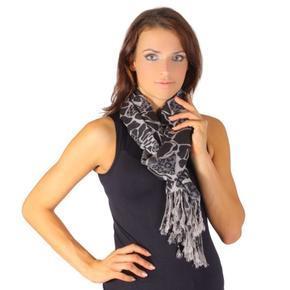 Černý trendy šátek Nena C2