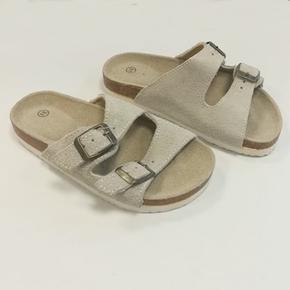 Dětské korkové pantofle Blanka šedé - 31