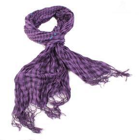 Fialový kostkovaný šátek Lott D7