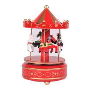 Hrací kolotoč Sweet červený 19 cm
