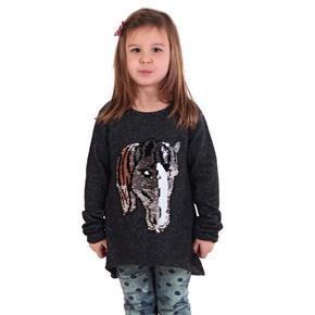Dívčí svetr s měnícím obrázkem Pedro černý