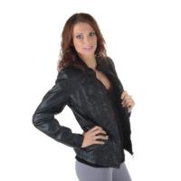 Černá koženková bunda Peggy