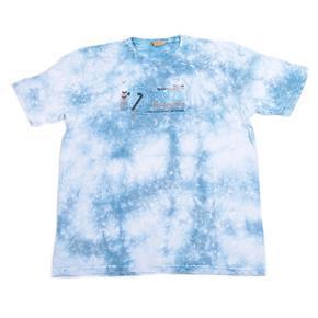 Melírované pánské tričko XXL Sam světle modré