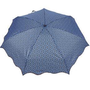 Skládací modrý mini deštník Love