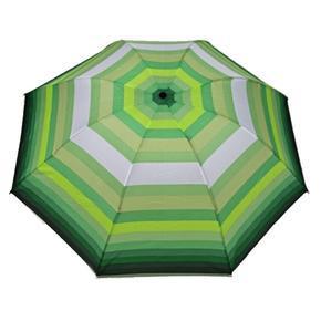 Skládací pruhovaný deštník Danken zelený