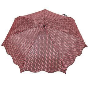 Skládací červený mini deštník Love