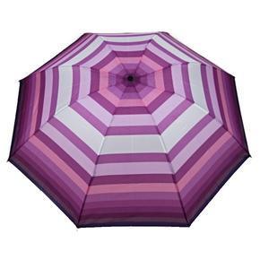 Skládací pruhovaný deštník Danken fialový