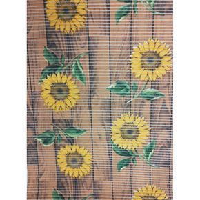 Gumová koupelnová rohož 65cm Slunečnice hnědá