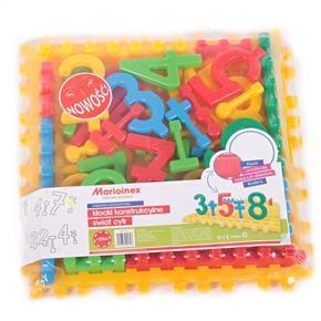 Plastové kostky sada čísel Marion