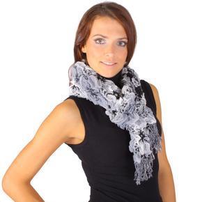 Zimní šátek Mett černý C5