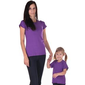 Dámské jednobarevné tričko Linty fialové