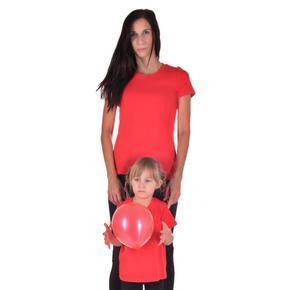 Dámské tričko bez potisku Linty červené