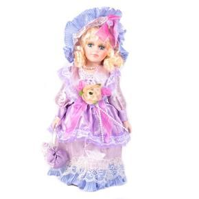 DOLL porcelánová panenka Chantal 30 cm