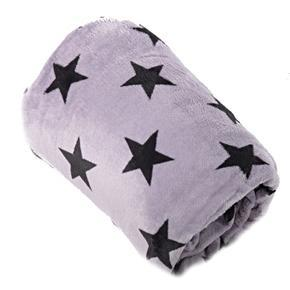 Hřejivá deka Hvězda šedá 150 x 200