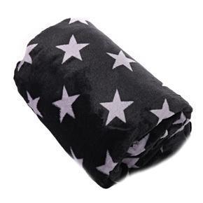 Hřejivá deka Hvězda černa 150 x 200