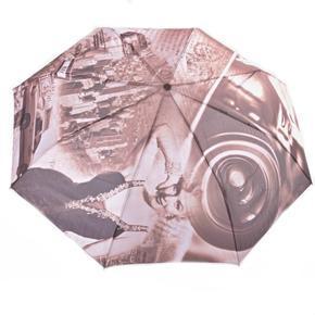 Luxusní skládací deštník Marilyn Monroe hnědý