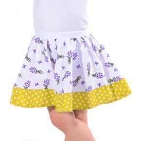 Dívčí kolová sukně Levandule