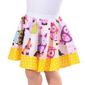 Dívčí kolová sukně Sova