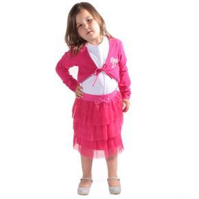 Dívčí zářivě růžové bolérko Kira