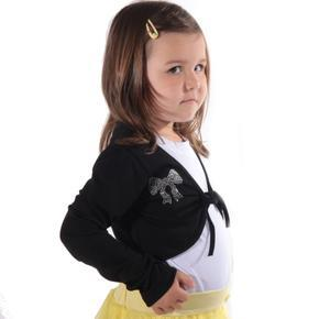 Černé dívčí bolérko Viktorie