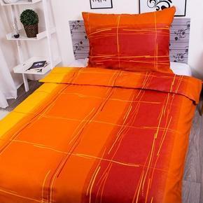 Francouzké bavlněné povlečení Martin oranžové