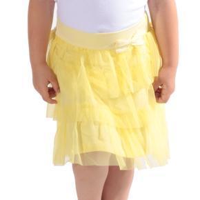 Dívčí tylová sukně Tamara s volány žlutá