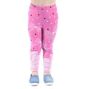 Bavlněné dětské legíny Suzan fialové