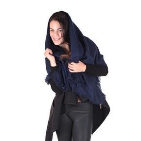 Huňatá jednobarevná dámská šála Hedvika modrá