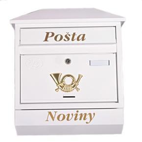 Poštovní schránka Zoe bílá