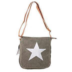 Stylová dámská kabelka s hvězdou Sarah khaki