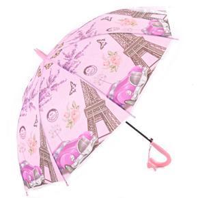 Dětský vystřelovací deštník Brenda růžový