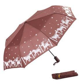 Malý skládací deštník Lucifer hnědý