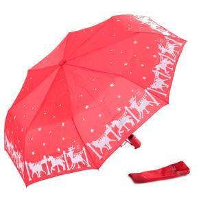 Malý skládací deštník Lucifer červený