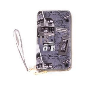 Dámská velká šedá peněženka Eli