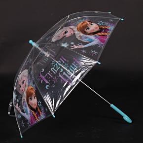 Průhledný holový dětský deštník Frozen modrý