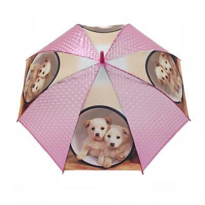 Vystřelovací deštník Puppy červený - 1