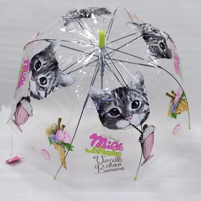 Průhledný holový deštník Mourek zelený - 1