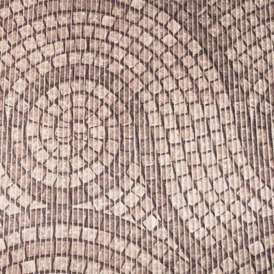Gumová koupelnová rohož 65cm Dlažba hnědá