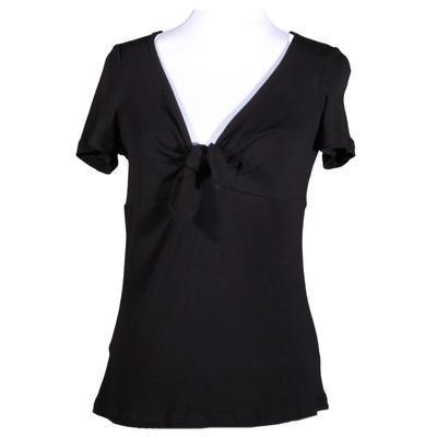 Černé tričko s krátkým rukávem Daniela - 1