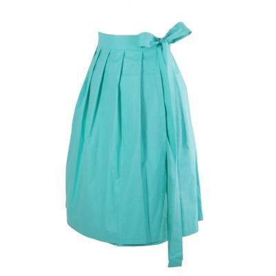 Tyrkysová zavinovací sukně Natalie bez potisku - 1