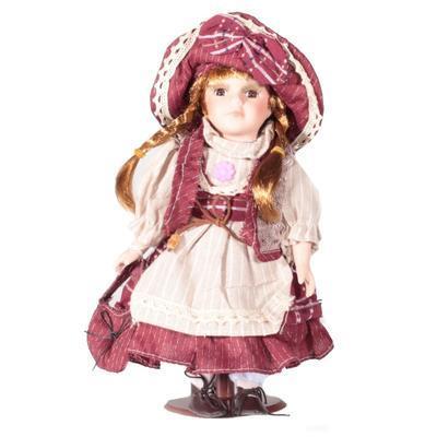 DOLL porcelánová panenka Palmíra 30cm