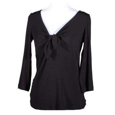 Černé tričko s midi rukávem Miranda - 1