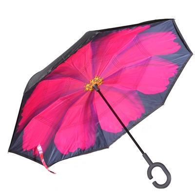 Obrácený deštník Bloss růžový - 1