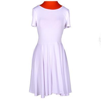 Bílé jednobarevné šaty Scarlet - 1