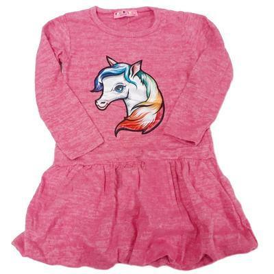 Dívčí úpletové šaty s blikacím obrázkem Lucie