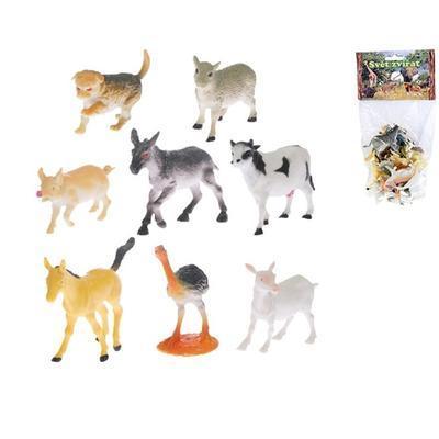 Zvířátka farma 8 druhů v sáčku Jan