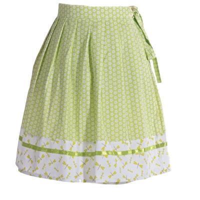 Zelená zavinovací sukně Katey s vážkami - 1