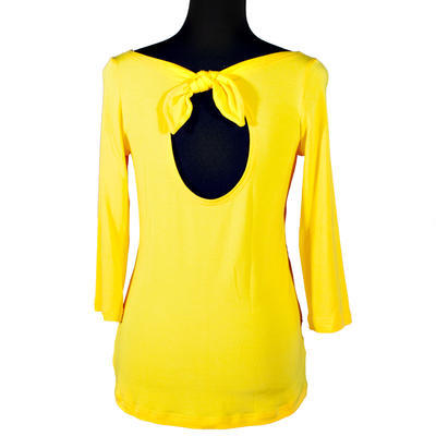 Žluté tričko s midi rukávem Vanesa - 1