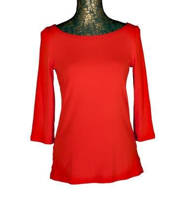 Červené tričko s midi rukávem Vanesa - 1
