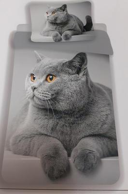 Jednolůžkové povlečení kočka Rozalka